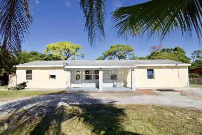 West Palm Beach Single Family Home For Sale: 4401 State Drive