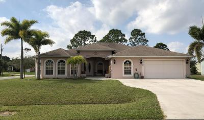 Port Saint Lucie Single Family Home For Sale: 2080 SW McAllister Lane