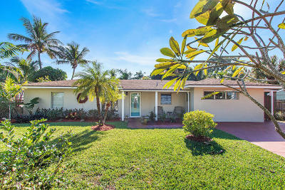Delray Beach Single Family Home For Sale: 144 Coconut Road