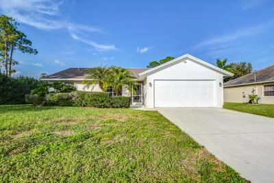 Port Saint Lucie Single Family Home For Sale: 1349 SW Parma Avenue