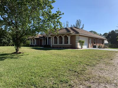 Loxahatchee Single Family Home Contingent: 14242 78th Place