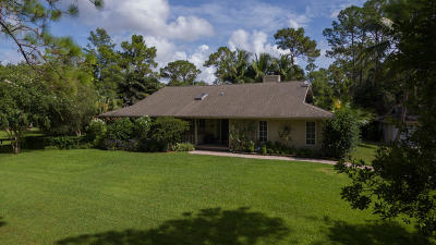 Jupiter Single Family Home For Sale: 11709 159th Court