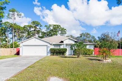 Fort Pierce Single Family Home For Sale: 8402 Bayard Road