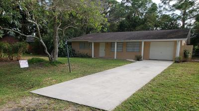 Fort Pierce Single Family Home For Sale: 303 Bartow Street