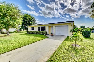 Delray Beach FL Single Family Home Contingent: $250,000