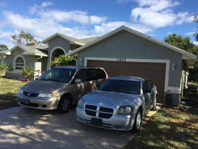 Port Saint Lucie FL Single Family Home For Sale: $229,900