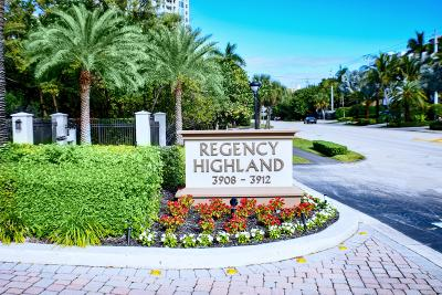 Regency Highland, Regency Highland Club, Regency Highland Club Condo Townhouse For Sale: 3908 S Ocean Boulevard #T-6