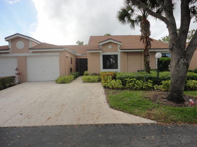 Boca Raton Single Family Home For Sale: 8160 Springlake Drive #B