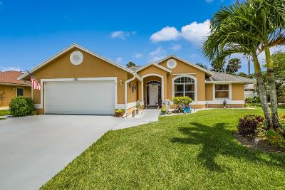 Royal Palm Beach Single Family Home For Sale: 122 Queens Lane
