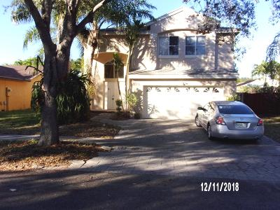 Coconut Creek Single Family Home For Sale: 4815 NW 14 Street