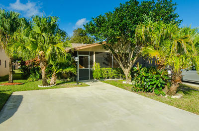 Delray Beach Single Family Home Contingent: 14589 Lucy Drive