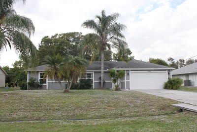 Port Saint Lucie Single Family Home For Sale: 3068 SW Ann Arbor Road