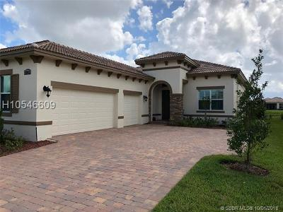 Port Saint Lucie Single Family Home For Sale: 22043 SW Tivolo Way