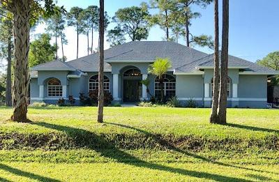 Loxahatchee Single Family Home For Sale: 17686 Temple Boulevard