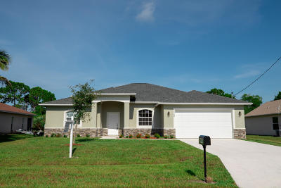 Port Saint Lucie FL Single Family Home For Sale: $312,000