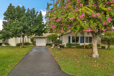 Lake Worth Single Family Home Contingent: 4459 Pine Lake Court