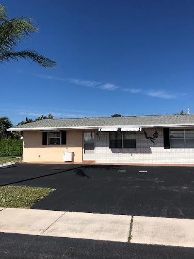 Delray Beach FL Single Family Home For Sale: $135,000