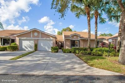 Boca Raton Single Family Home Contingent: 8269 Summersong Terrace #D
