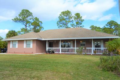 Loxahatchee Single Family Home Contingent: 16181 93rd Road