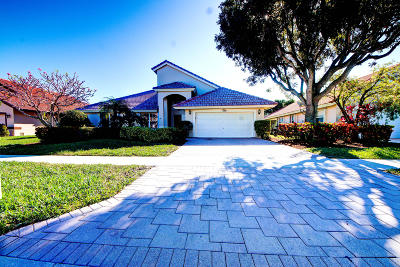 Boynton Beach Single Family Home For Sale: 12360 Divot Drive
