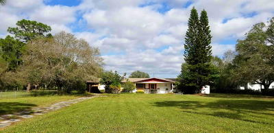 Fort Pierce Single Family Home For Sale: 11292 W Orange Avenue S