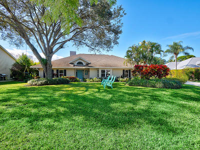 Jupiter Single Family Home For Sale: 6412 Woodlake Road