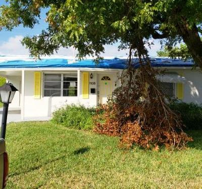 Boynton Beach Single Family Home For Auction: 1105 Leisure Lane