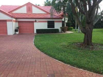 Delray Beach Single Family Home For Sale: 7584 Lexington Club Boulevard #B