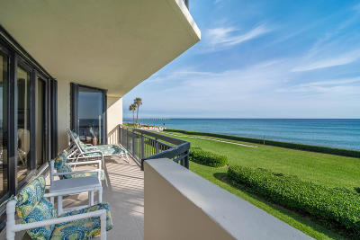 Palm Beach Condo For Sale: 3140 S Ocean Boulevard #203s