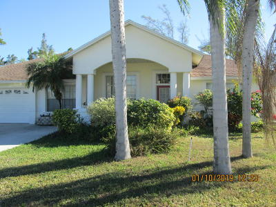 Lake Worth Single Family Home For Sale: 3827 Woods Walk Boulevard