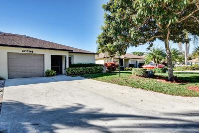 Boca Raton Single Family Home For Sale: 20794 Concord Green W