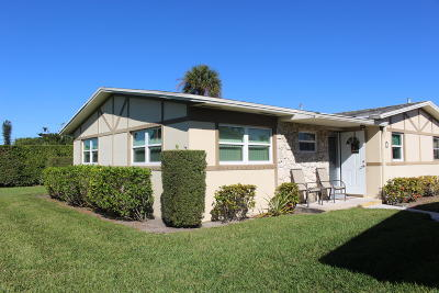 West Palm Beach Single Family Home For Sale: 2769 Ashley Drive W #H