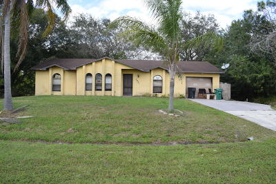 Port Saint Lucie Single Family Home Contingent: 1001 SW California Boulevard
