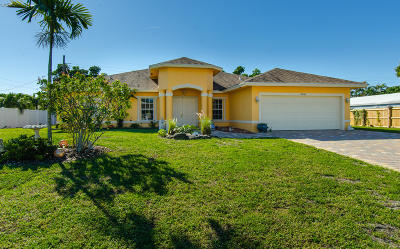Lake Worth Single Family Home For Sale: 3040 Starboard Drive