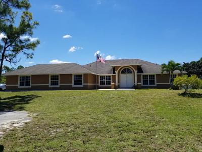 Loxahatchee Single Family Home For Sale: 18268 50th Street