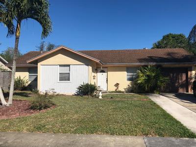 Royal Palm Beach Single Family Home For Sale: 10401 Showboat Lane