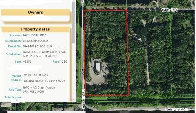 Delray Beach Residential Lots & Land For Sale: 9470 158th Road S