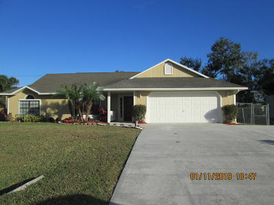 Fort Pierce Single Family Home Contingent: 8300 Penny Lane