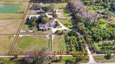 Jupiter Single Family Home For Sale: 17120 Jupiter Farms Road
