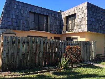 Lake Worth Townhouse For Sale: 2371 Waterside Drive