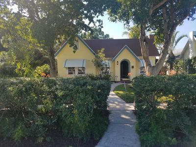 West Palm Beach Single Family Home For Sale: 826 Palmetto Street