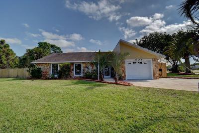 Port Saint Lucie Single Family Home For Sale: 502 SE Fallon Drive