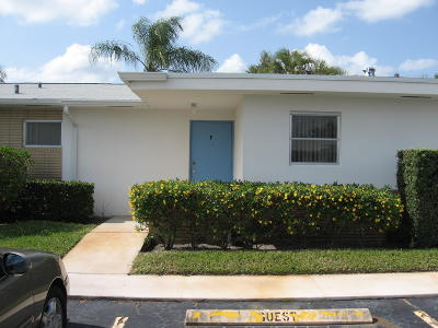 West Palm Beach Single Family Home For Sale: 2834 Crosley Drive E #F