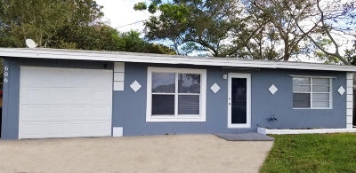 Fort Pierce Single Family Home For Sale: 606 S 25th Street