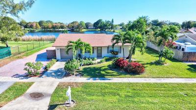 Boca Raton Single Family Home For Sale: 9989 Liberty Road