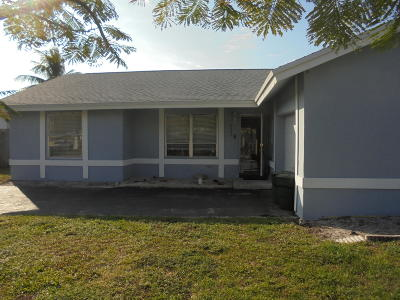 Boca Raton FL Single Family Home For Sale: $280,000