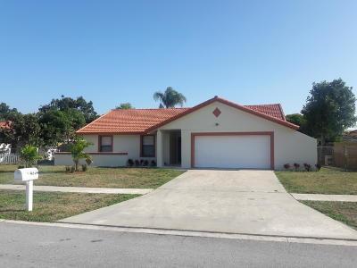 West Palm Beach Single Family Home For Sale: 4204 Heath Circle S