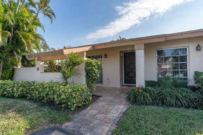 Delray Beach Single Family Home Contingent: 13857 Royal Palm Court #A