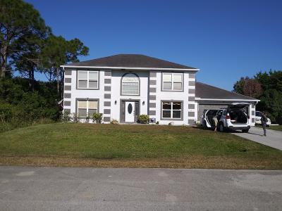 Port Saint Lucie Single Family Home For Sale: 113 SW Donna Terr Terrace