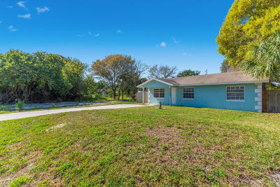 Fort Pierce Single Family Home For Sale: 3175 S 21st Street